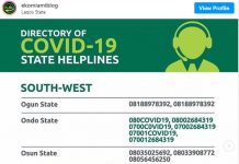 coronavirus helpline for all states in nigeria