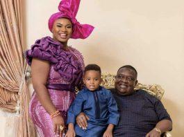 BBNaija Prince sister Frances and her billionaire husband with her child