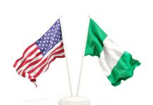 USA and Nigeria Flag